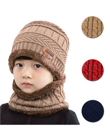 AYAMAYA Winter Hats for Adults/Kids | Knit Beanie Cap and Scarf - 2 Pieces