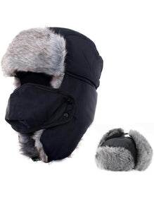 AYAMAYA Winter Trapper Hat | Ushanka Russian Style Windproof Mask Trooper Hat