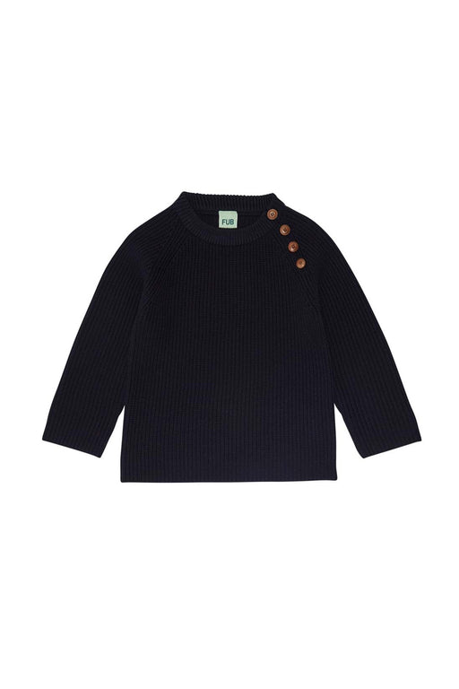Rib Sweater - Navy