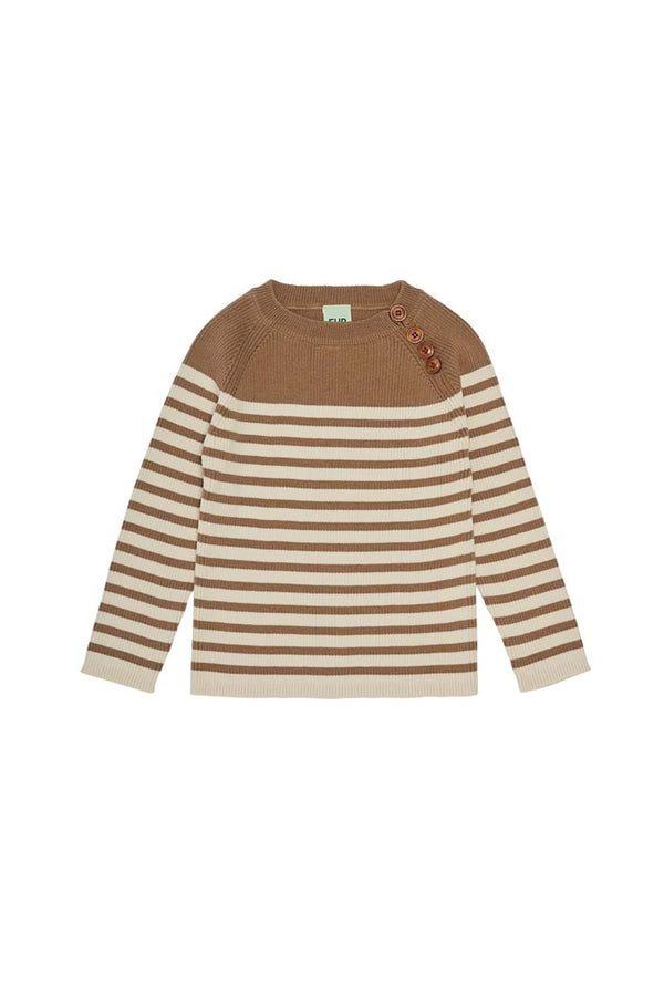 Sweater - Camel/Ecru