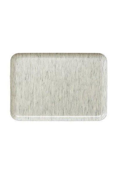 Linen Coating Tray White Stripes Medium