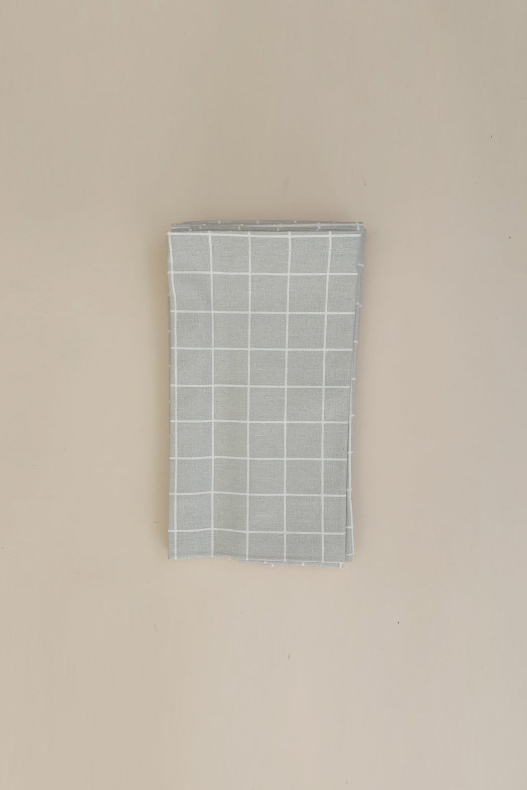 Cotton Napkins 4-Pack - Oyster Grey Check