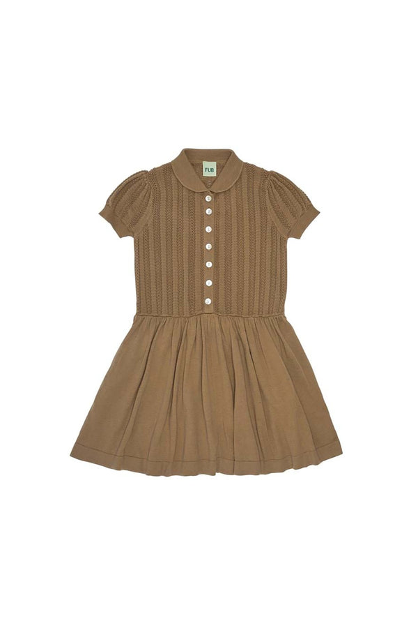 Pointelle Dress - Camel