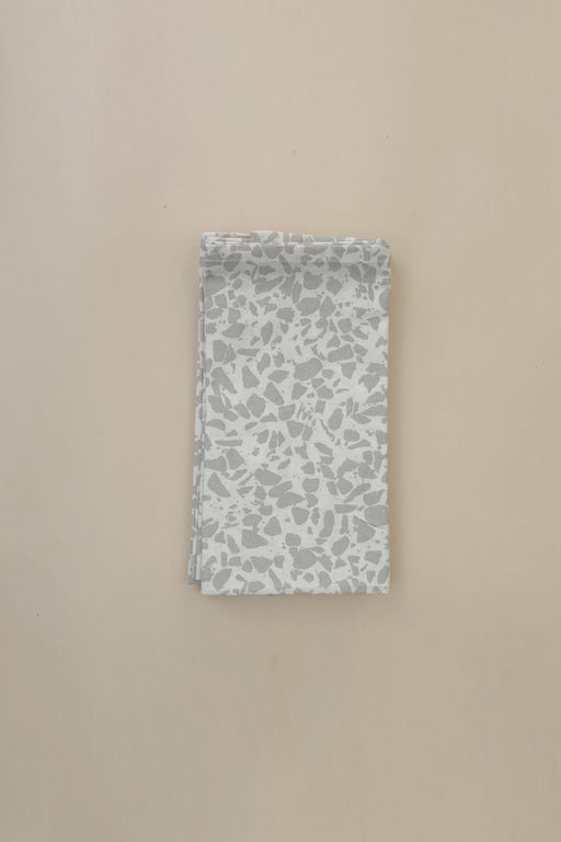 Cotton Napkins 4-Pack - Oyster Grey Terrazzo