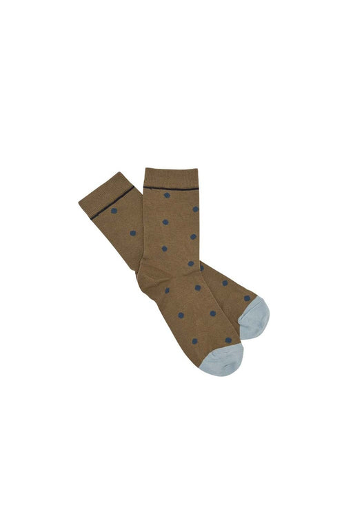 Womens Dot Socks - Camel