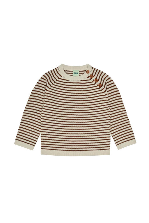 Rib Sweater - Ecru/Umber