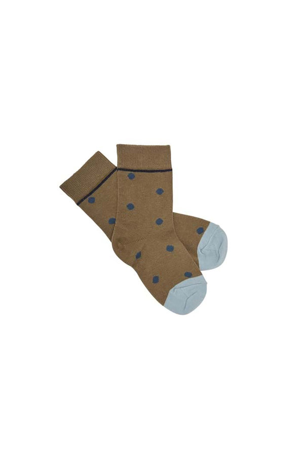 Kids Dot Socks - Camel