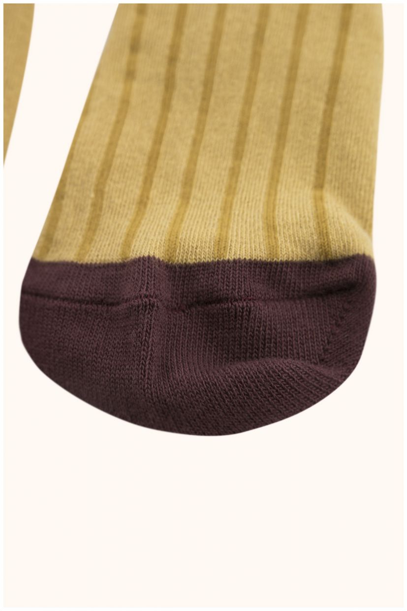 Stripes Tights - Mustard/Sand