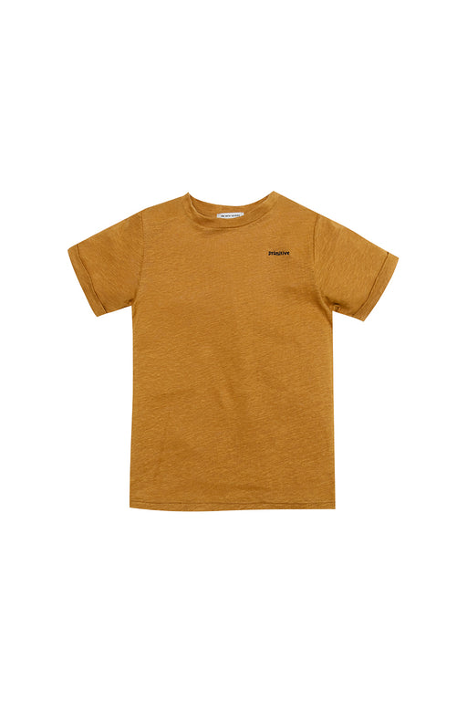 The New Society S/S T-Shirt - Caramel/Navy