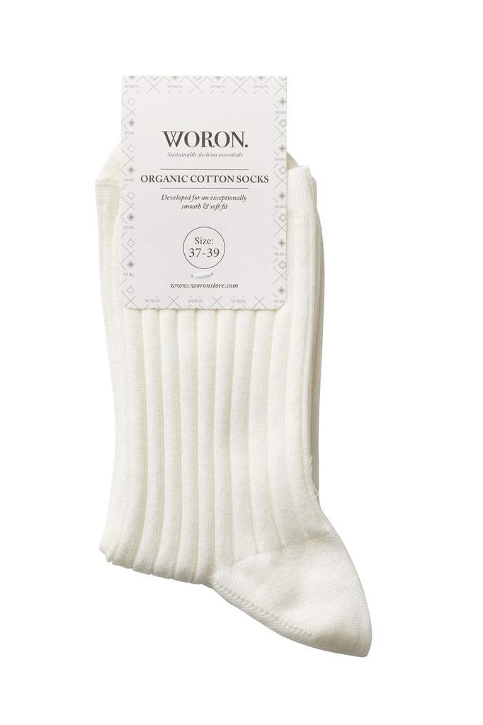 Organic Cotton Socks - Off White
