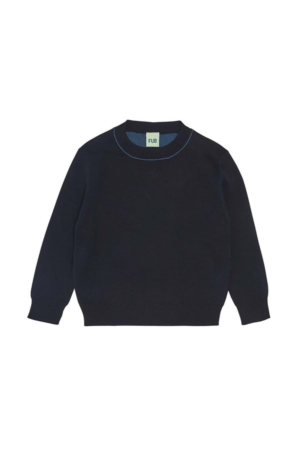 Contrast Blouse - Dark Navy