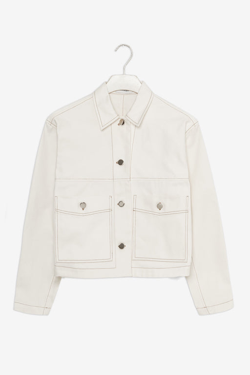 Alma Jacket - White Twill
