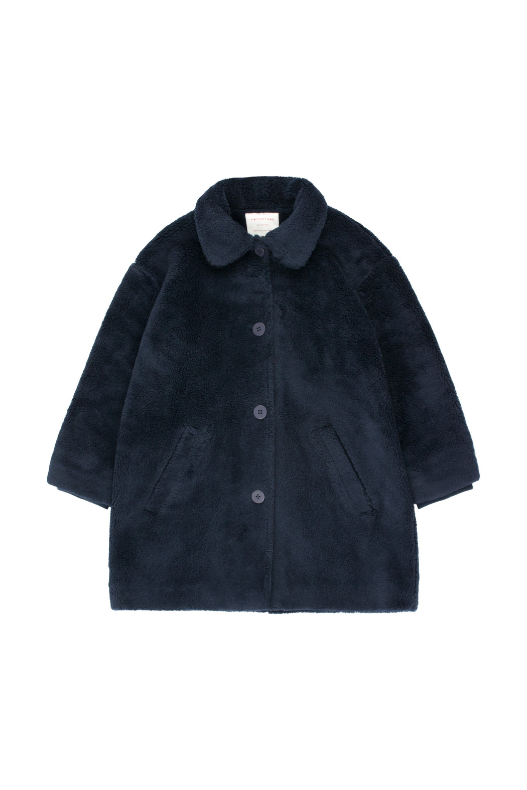 Faux Fur Coat - True Navy