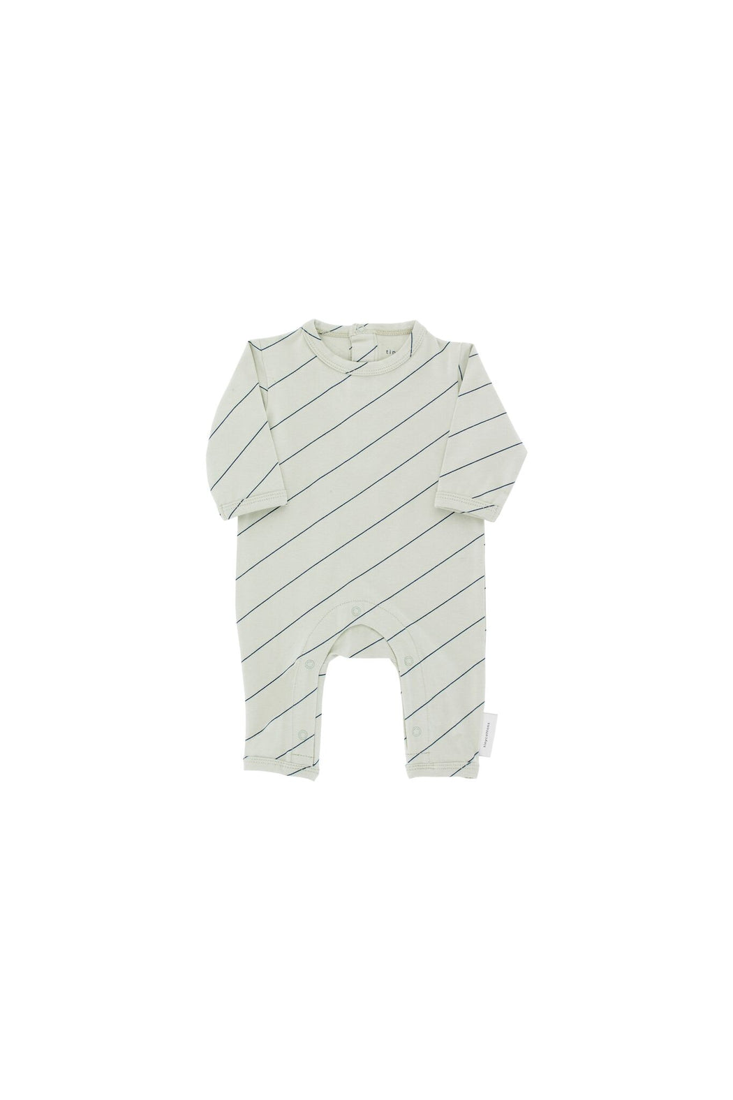 Diagonal Stripes L/S One-Piece