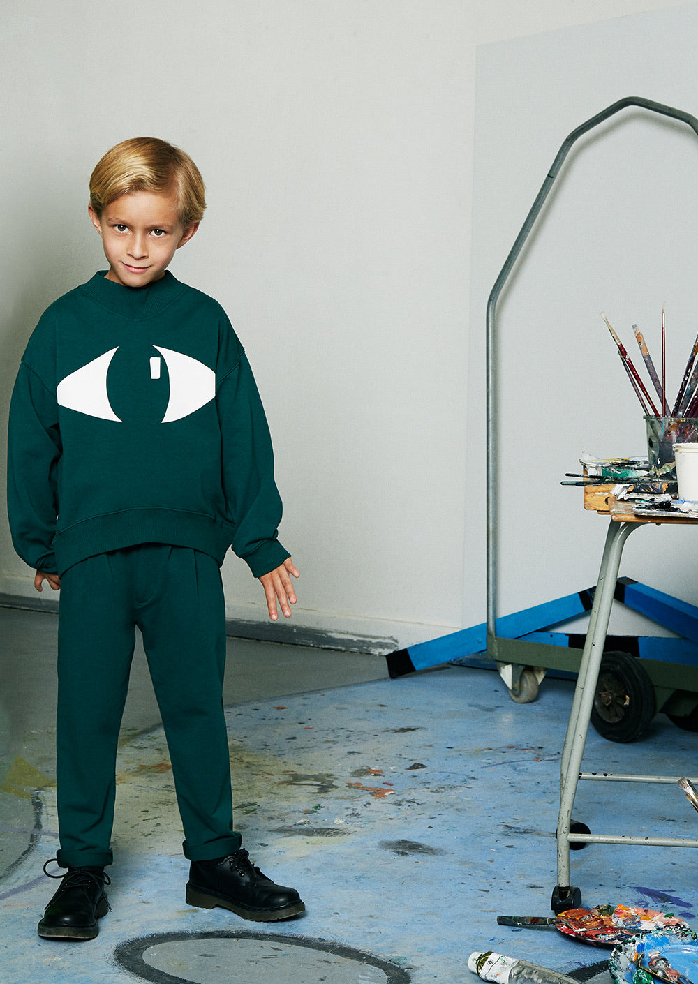 Hey Sweatshirt - Bottle Green
