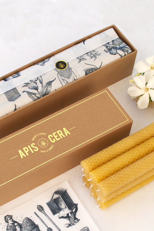 Bougies Lucienne - Box of 9 Beeswax Candles
