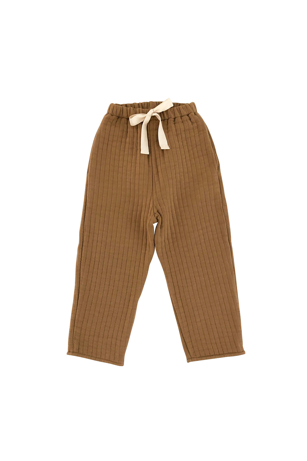 Quilted Pants - Camel