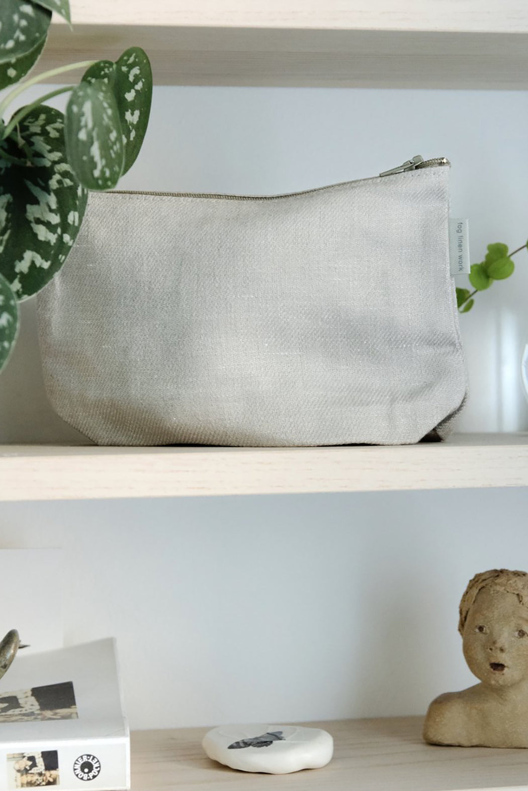 Romy Pouch - White Denim