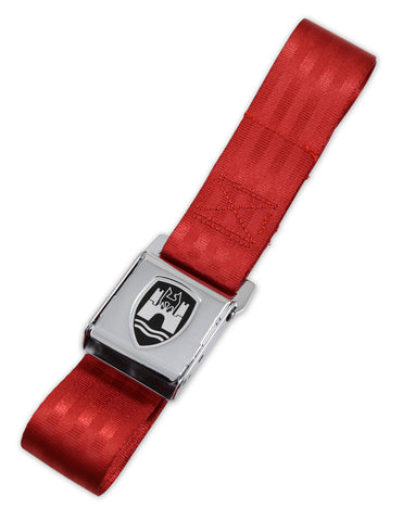Red w/ Chrome Buckle - 2 Point