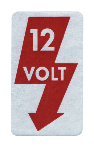 12 Volt Sticker