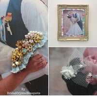 This is an image of our 3D Personalized Wedding Keepsake Frame-Preserve Your Bouquet & Memories from your wedding day with our personalized keepsake