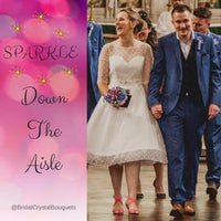 Sparkle down the aisle with a sparkly brooch bouquet for a brides wedding