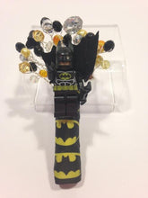 Load image into Gallery viewer, Minifigure Marvel Batman buttonhole for a grooms wedding