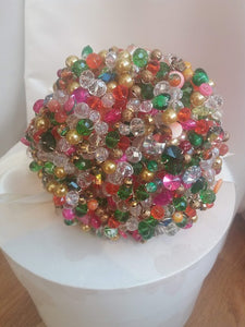This is an image of a Beautiful Colourful Crystal Wedding Bouquet