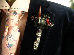 Star Wars Wedding Buttonholes For A Star Wars Wedding Theme - Bridal Crystal Bouquets