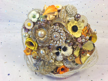 Load image into Gallery viewer, Felicity Floral Brooch Bouquet - Vintage Inspired By Bridal Crystal Bouquets - Bridal Crystal Bouquets