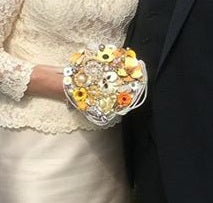 Felicity Floral Brooch Bouquet - Vintage Inspired By Bridal Crystal Bouquets - Bridal Crystal Bouquets