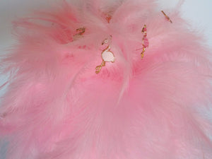 Fun Feather Pink Flamingo wedding bouquet for an alternative wedding day for a bride or bridesmaid