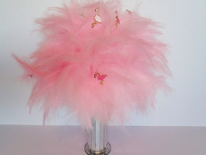 Pink feather flamingo wedding bouquet for an alternative wedding