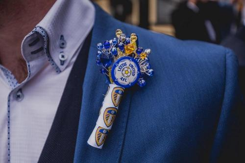 Football Crystal Wedding Buttonholes For A Football Wedding - Bridal Crystal Bouquets