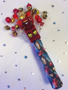 Minifigure Marvel Ironman buttonhole for a grooms wedding
