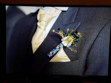 Load image into Gallery viewer, Minifigure Marvel Character Wolverine Buttonhole for a grooms wedding