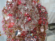 Load image into Gallery viewer, This is an image of our Fabulous Sparkly Pretty In Pink Crystal Brooch Wedding Bouquet Keepsake - Bridal Crystal Bouquets