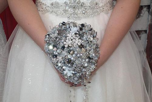 Swarovski Crystal Bridal Bouquets Teardrop Bouquet - Bridal Crystal Bouquets