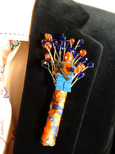 Marvel Buttonholes For An Alternative Comic Wedding Day - Bridal Crystal Bouquets