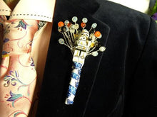 Load image into Gallery viewer, Star Wars Wedding Buttonholes For A Star Wars Wedding Theme - Bridal Crystal Bouquets