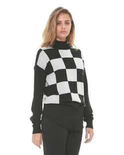 Sweater with chess pattern