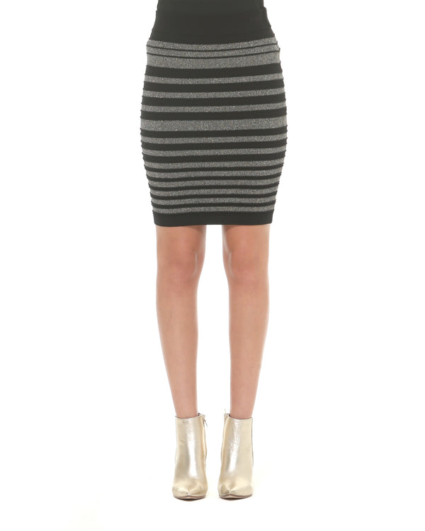 Pencil skirt lurex stripes
