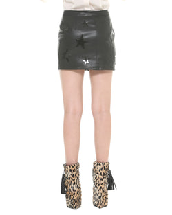 Cross zipped skirt