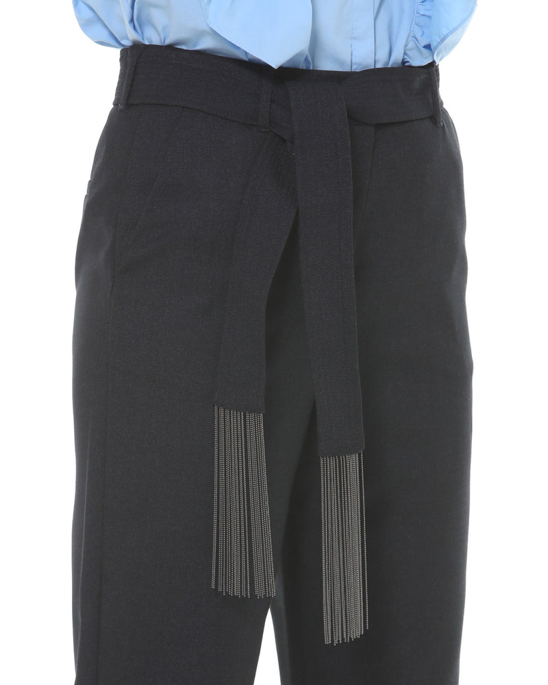 Classic trousers with sash