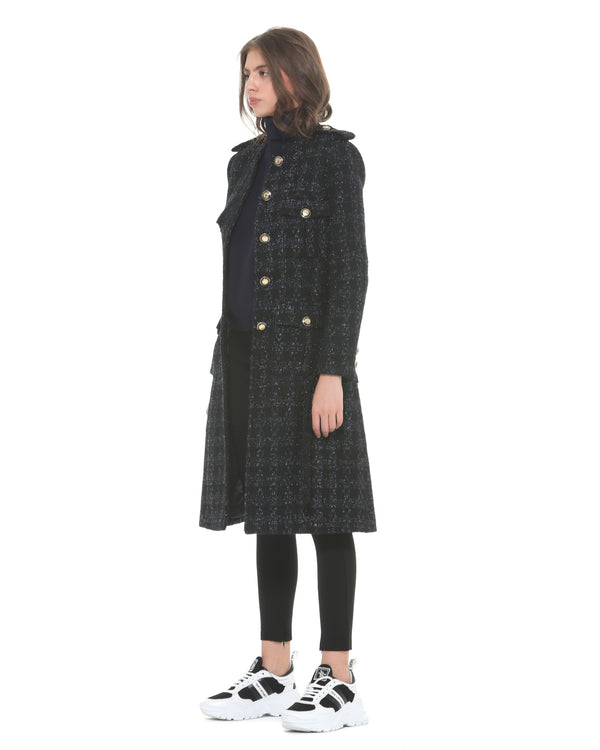 Coat with attached pockets