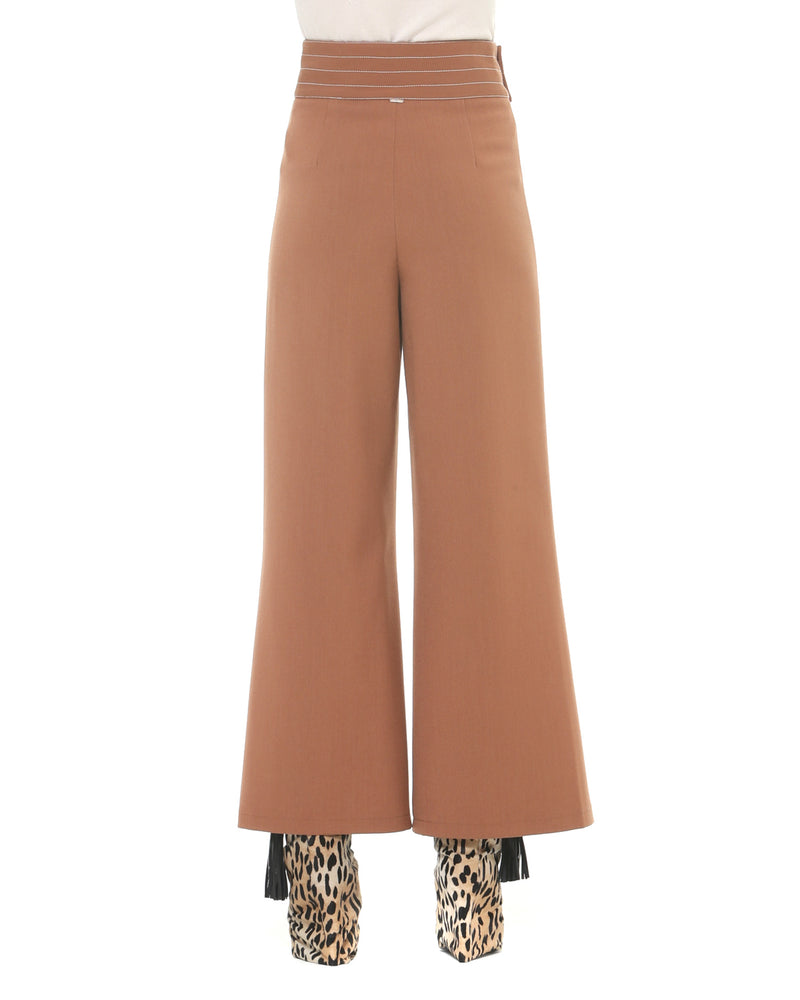 Palazzo trousers high waistband