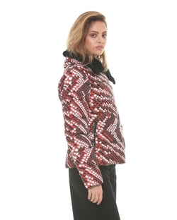 Patterned down jacket