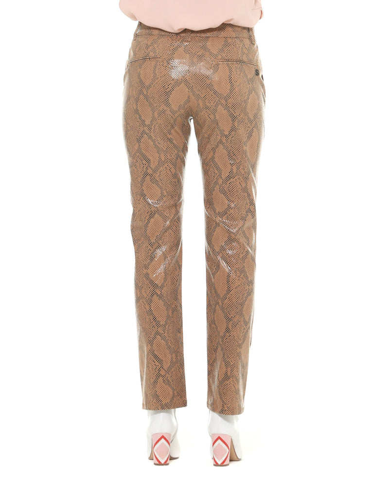 Python patterned trousers