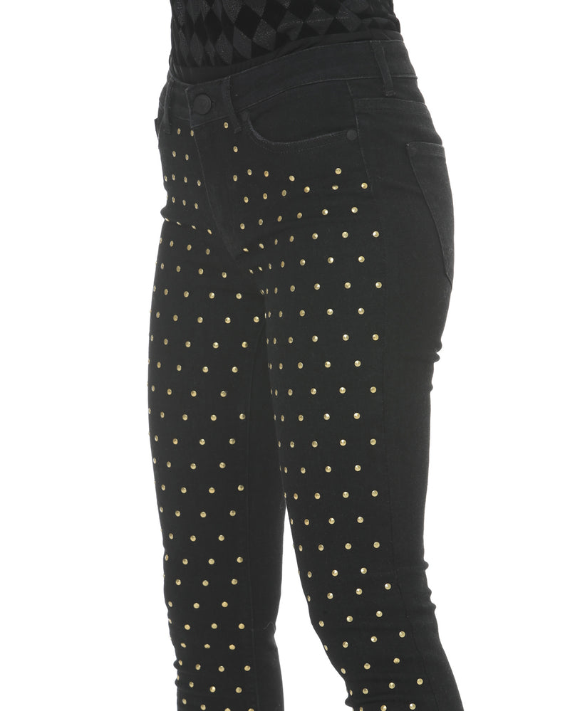 Jeans with studs