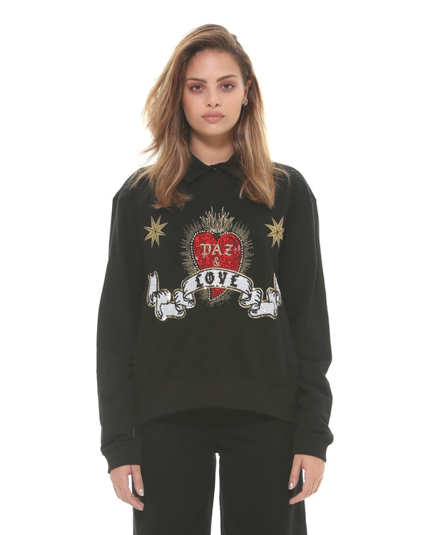 Sweatshirt with decoration